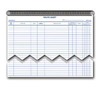 Daily Service Route Sheets - Spiral Bound