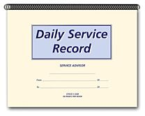 Daily Service Record Book
