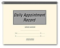 Daily Appointment Record Book Cover