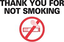 Stock Static Cling Reminders-No Smoking