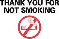 Stock Static Cling Reminders-No Smoking