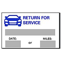 Stock Static Cling Reminders-Return For Service
