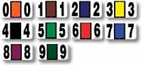 Color-Code Numbers (Roll of 500)