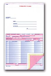 """Special Parts Order Forms 5-2/3"""" x 9-1/4"""" 4-Part"""