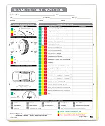 KIA Multi-Point Inspection Form