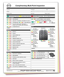 Mazda Multi-Point Inspection Form