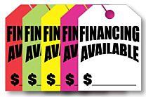 Mirror Hang Tags (Jumbo) Financing Avaliable