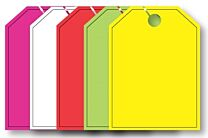 Mirror Hang Tags (Jumbo) Blank With Black Border