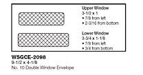 #10 Standard Double Window Black Security Tint Envelopes
