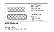 #9 Double Window Envelope with black security TINT