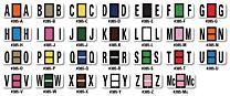 Color-Code Alphabet Labels