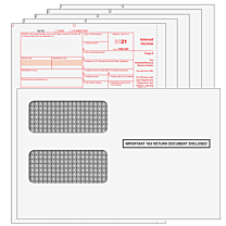 1099-INT (INTEREST) 2-UP 5-Part Kit w/Envelopes