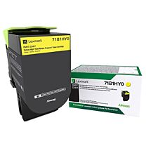 Lexmark CS417, CS517, CX417, CX517 Yellow Toner 3.5K