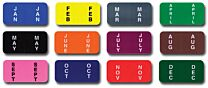 Color-Coded Month Labels - Ringbook  (Full Set)