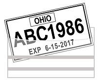 License Plate Tag Bags with Adhesive